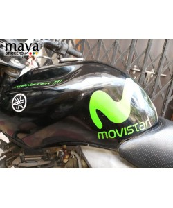 Movistar logo stickering on yamaha FZ tank