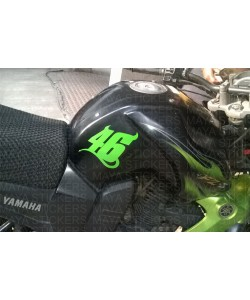 VR 46 number decal sticker for Yamaha FZ S tank green