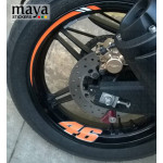 Wheel rim stickers for all Motorcycles ( 8 pieces )
