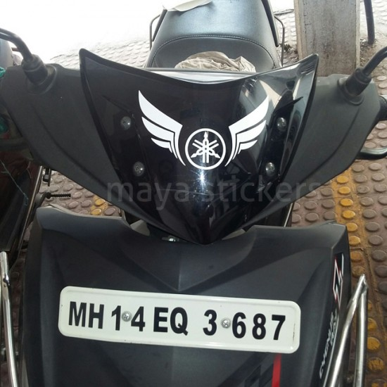 Yamaha logo stickers for yamaha motorcycles and scooters india