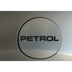 Petrol fuel cap sticker decal with classy font and simple style. ( custom colors available)
