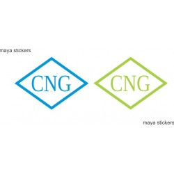 CNG logo decal/ sticker for cars. Custom colors and sizes available