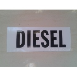 Diesel fuel cap sticker in classy font - Custom colors available