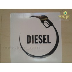 Diesel sticker for Car fuel lids - Unique design - custom colors available