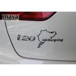 Nurburgring rally track logo sticker