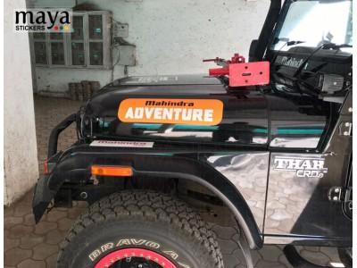 Large mahindra adventure logo sticker on Bonnet sides