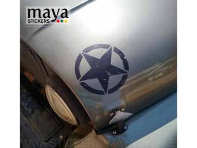 Star sticker for mahindra thar bonnet