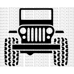 Jeep silhouette  stickers / decal for Mahindra thar and other jeeps