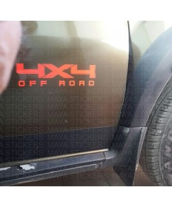 4 x 4 offroad stickering on renault duster