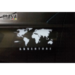 World Map adventure sticker for RE Himalayan, Thar, SUVs and cars