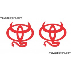 Toyota Devil  custom sticker decal for Cars