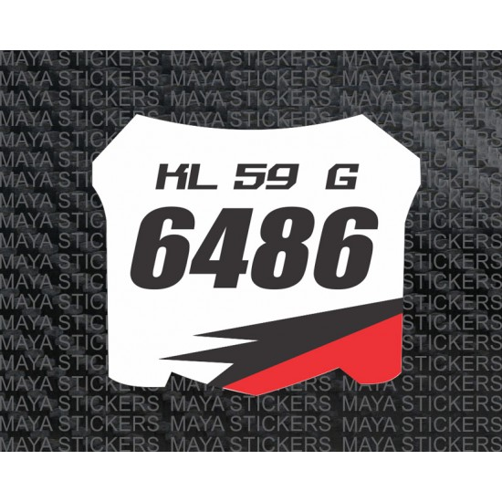 mx fx racing sports style number plate stickers for bikes