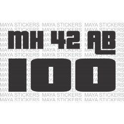 Number plate sticker in Grand Theft Auto Style Font