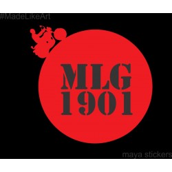 MLG 1901 custom stickers for Royal Enfield