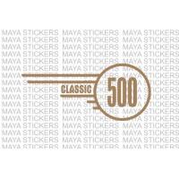 Classic 500 logo sticker for Royal Enfield tool box