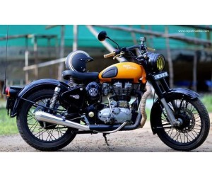 RE royal enfield logo sticker on royal enfield side cover