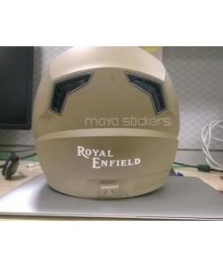 Royal enfield old logo sticker for helmets