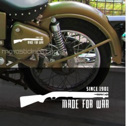 Made for War Vinyl decal / sticker for Royal Enfield (Pair of 2)