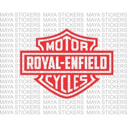 Royal Enfield logo in Harley Davidson style.