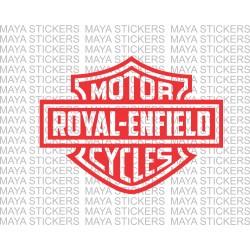 Royal Enfield logo in Harley Davidson style.