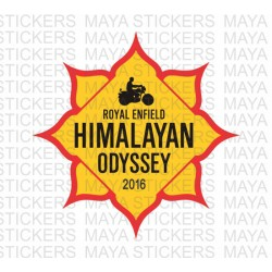 Himalayan Odyssey stickers for Royal Enfield with custom year
