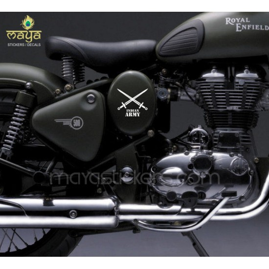 Sword indian army custom sticker for cars bikes royal enfield laptop