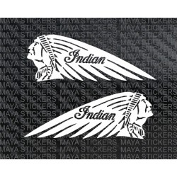 Indian motorcycles logo sticker for Bikes, cars, enfield. (Pair of 2 decals)