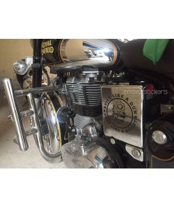 Built like a gun battery box sticker for royal enfield classic chrome