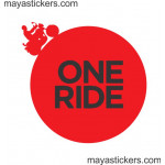 One ride sticker/decal for royal enfield - custom colors
