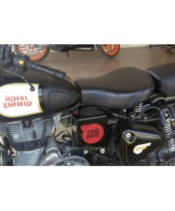 One ride sticker on royal enfield classic 350