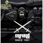 Custom Designed crossed swords vinyl sticker / decal for royal enfield bullet
