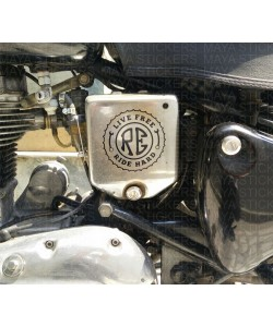 Live free ride hard sticker for RE electra battery box