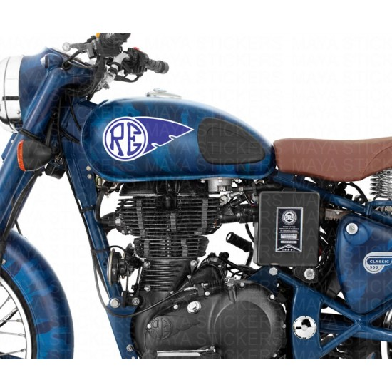 Royal Enfield RE logo with Wings