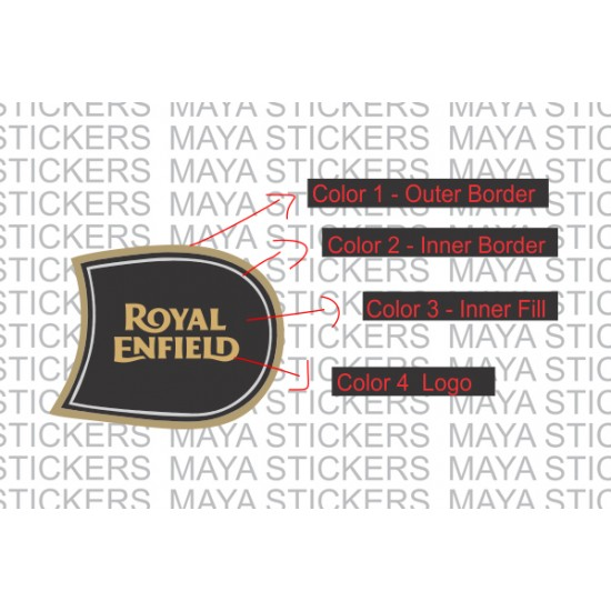 Royal enfield full size fuel tank sticker for royal enfield bikes