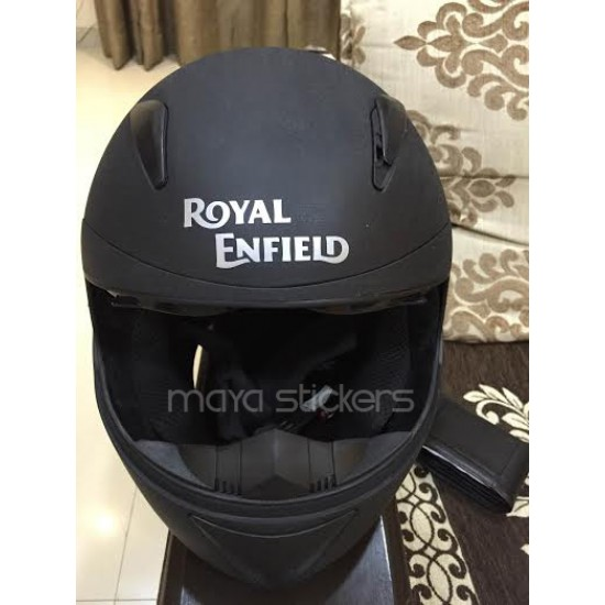 Royal enfield new text logo stickers pair of 2 stickers