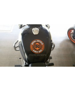 Royal Enfield since 1901 new logo sticker on classic 350 fuel tank top