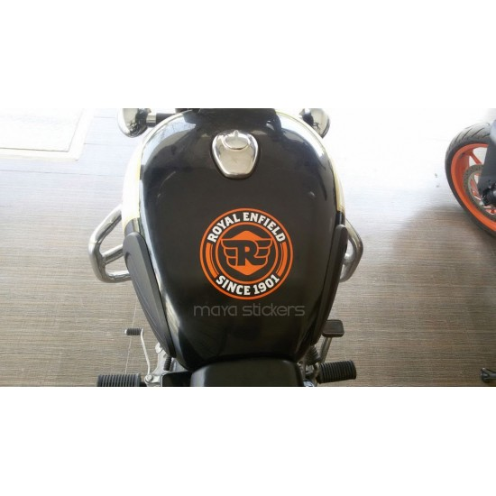 Royal Enfield New Logo Sticker With R Emblem Available In