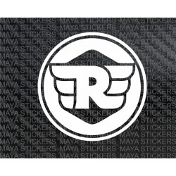 Royal enfield new 'R' logo, (Pair of 2 Stickers)