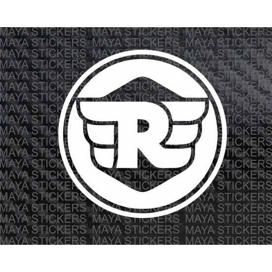 Royal enfield new r logo pair of 2 stickers