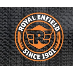 Royal enfield new logo sticker in Dual Color