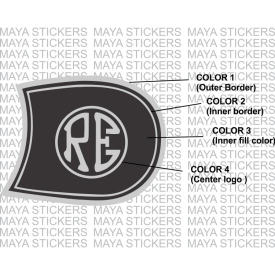 Re logo royal enfield petrol tank sticker for classic 350 500 and other bullets