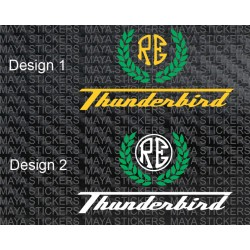 Royal Enfield Thunderbird custom sticker  in Continental GT style