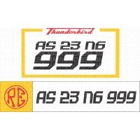 Royal Enfield Thunderbird number plate stickers