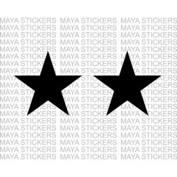 Star sticker for Bikes, Cars, and helmets (Pair of 2 )