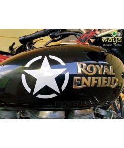 Star sticker on Royal Enfield electra petrol tank