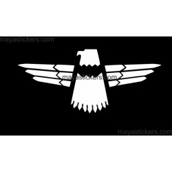Thunder Bird Eagle sticker for Bikes, Cars and laptops.  (Pair of 2 Stickers)