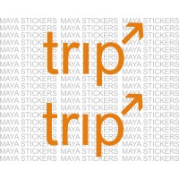 Trip sticker for Royal enfield, bikes and Cars. Available in custom colors and sizes (2 pieces)