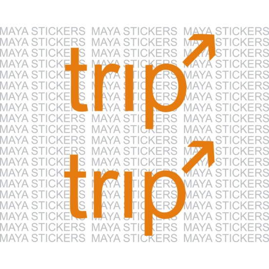Pair of 2 trip stickers for royal enfield in custom colors and sizes trip sticker for royal enfield bullet in custom colors and sizes publicscrutiny Gallery