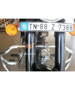 Trip sticker on royal enfield classic front forks