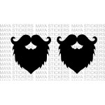 Beard and mustache classy sticker / decal for cars, bikes, laptop